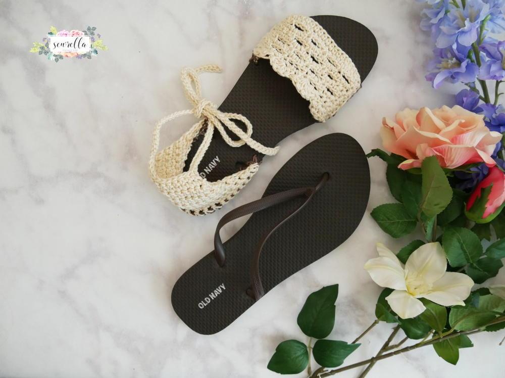 Sandals Using Flip Flop Soles Allfreecrochet Com