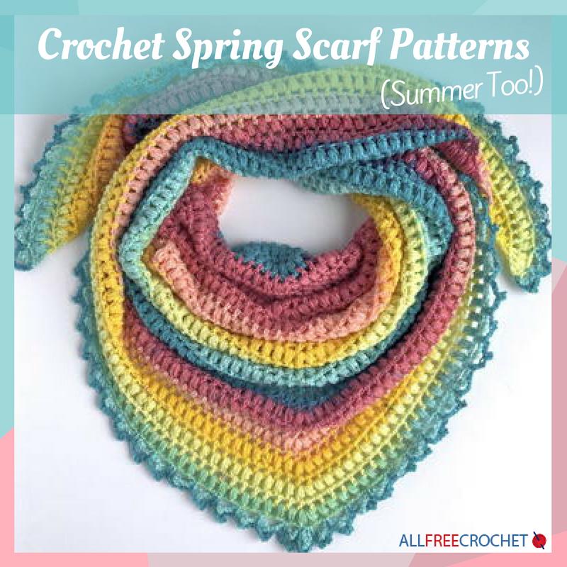 14 Crochet Spring Scarf Patterns Summer Too Allfreecrochet