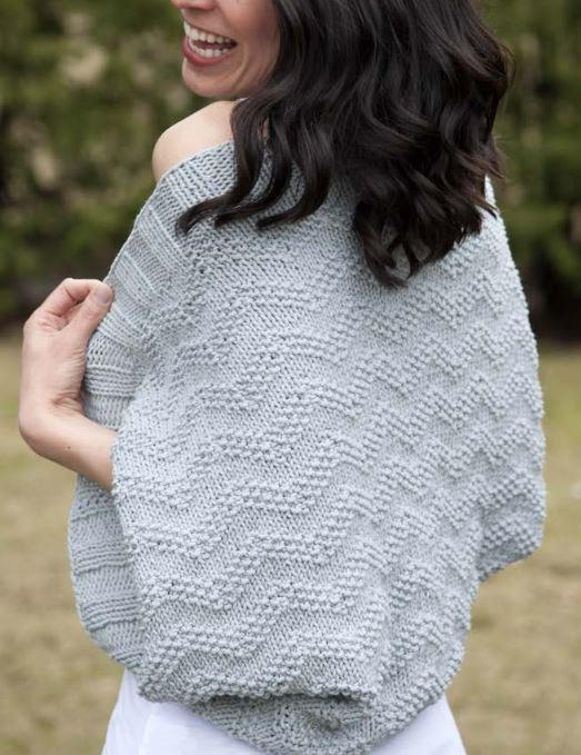 Chevron Knitted Bolero Pattern | AllFreeKnitting.com