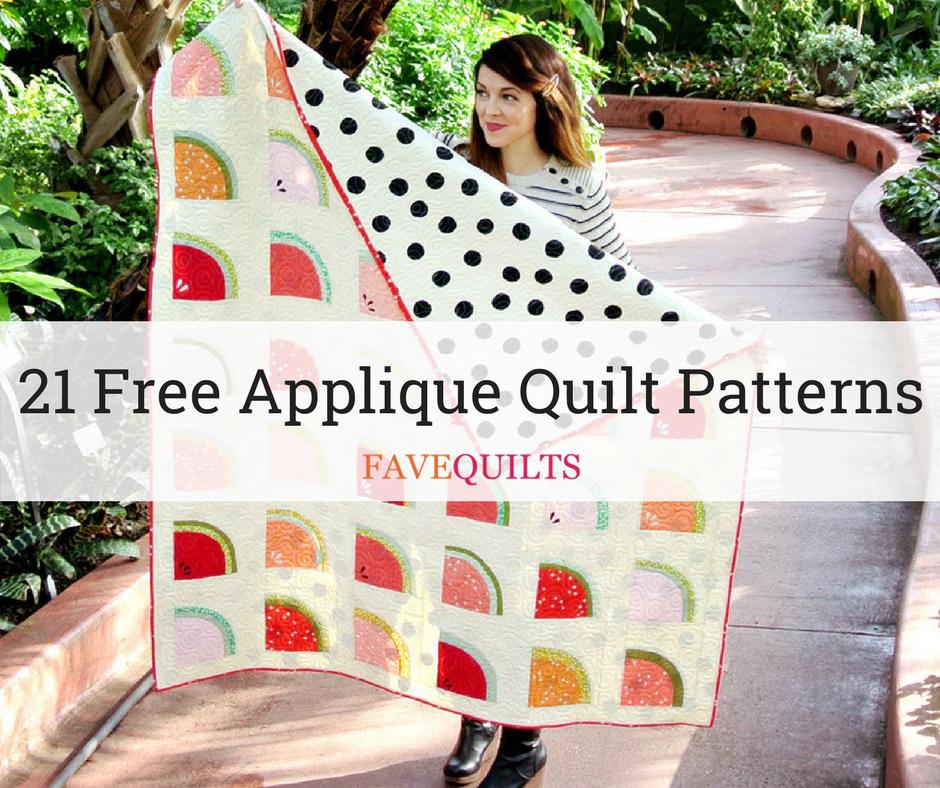 21 Free Applique Quilt Patterns Favequilts
