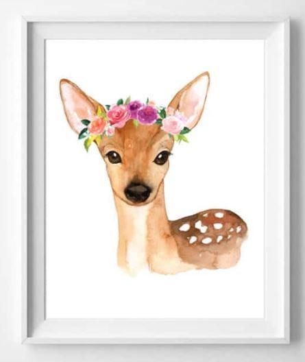 Watercolor Woodland Animals Free Printable Art