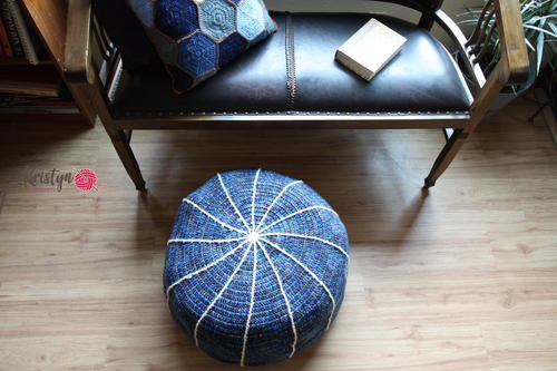 Removable Colored Cables Pouf