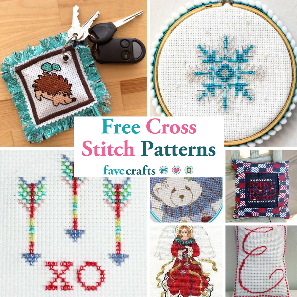 Cross-stitch patterns and tips on using them