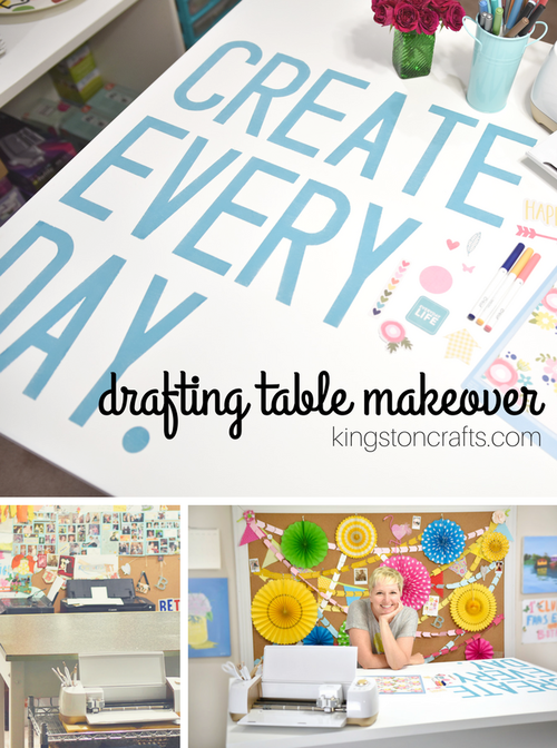 Drafting Table Makeover with Cricut