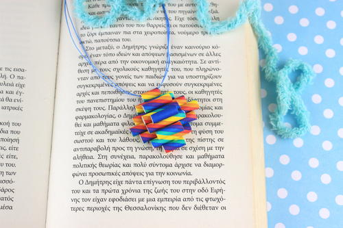 Necklace with Rainbow Drinking Straws