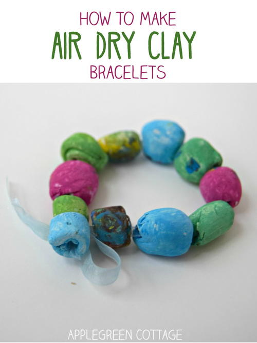 Mother's Day DIY Bracelets From Air Dry Clay