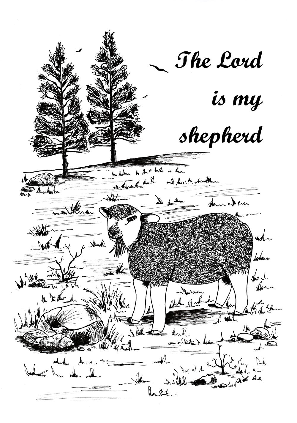 The Lord Is My Shepherd Adult Coloring Page | FaveCrafts.com