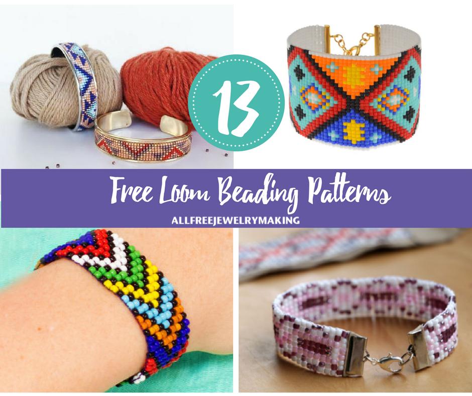 Free Loom Beading Patterns AllFreeJewelryMaking Adorable Free Printable Bead Loom Patterns