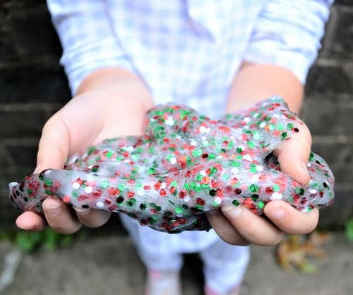 Easy Christmas Slime Recipe