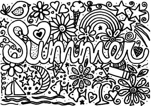 Summer Coloring Page for Kids