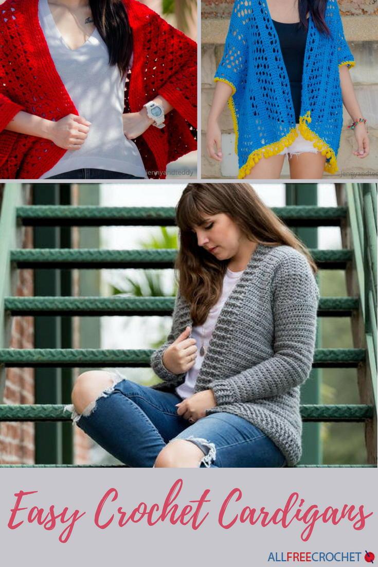 56 Easy Crochet Cardigan Patterns Allfreecrochet