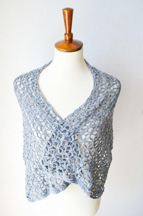 Lace Star Flower Wrap Crochet Pattern   AllFreeCrochet.com