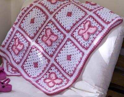Crochet Butterfly Throw