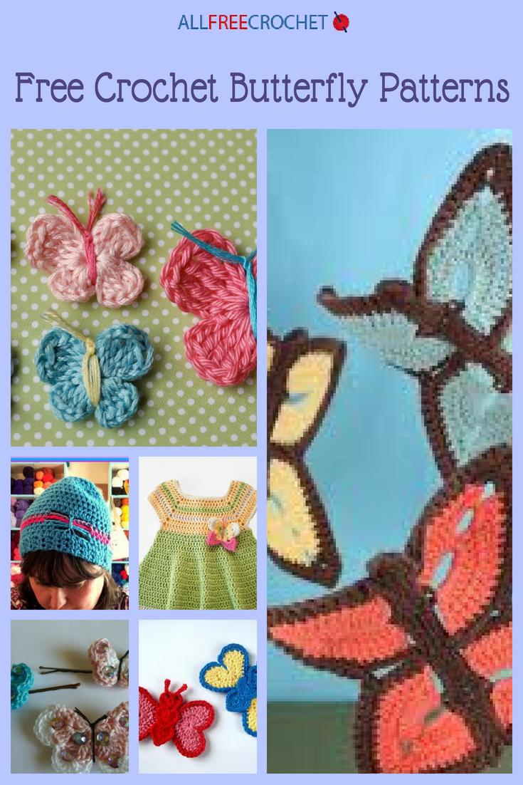 35+ Free Crochet Butterfly Patterns | AllFreeCrochet.com
