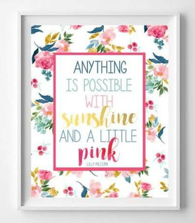 Lilly Pulitzer Inspired Wall Art