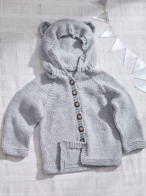 Baby Bear Hooded Cardigan