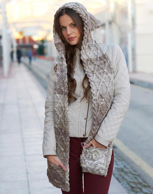 Knitted Scarf And Beanie