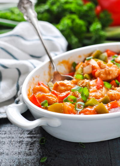 Dump and Bake Sweet and Sour Chicken