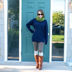 Surprisingly Simple Sweater Dress