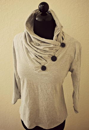 The Great Gathered Cowl V-Neck