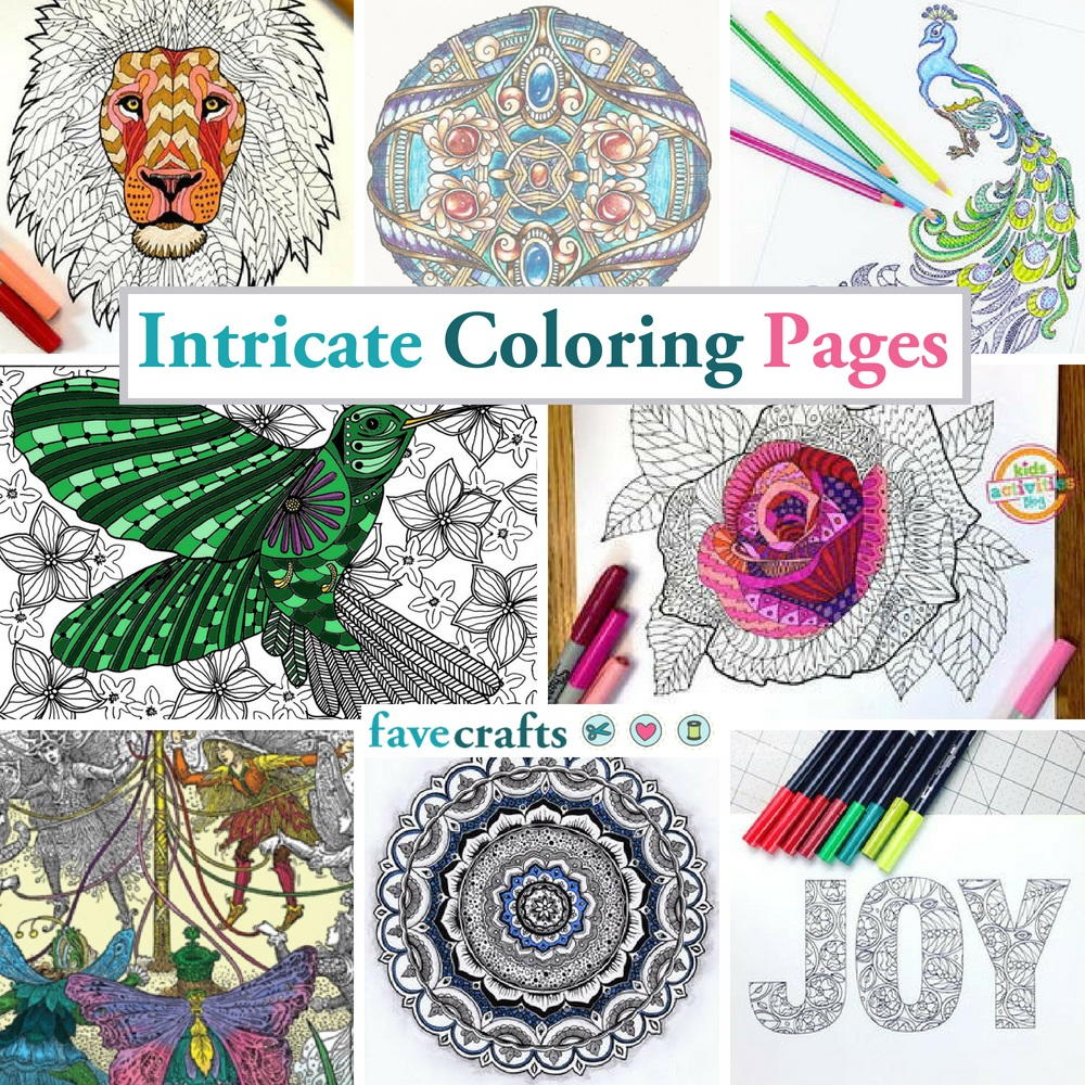 111 Intricate Coloring Pages | FaveCrafts.com