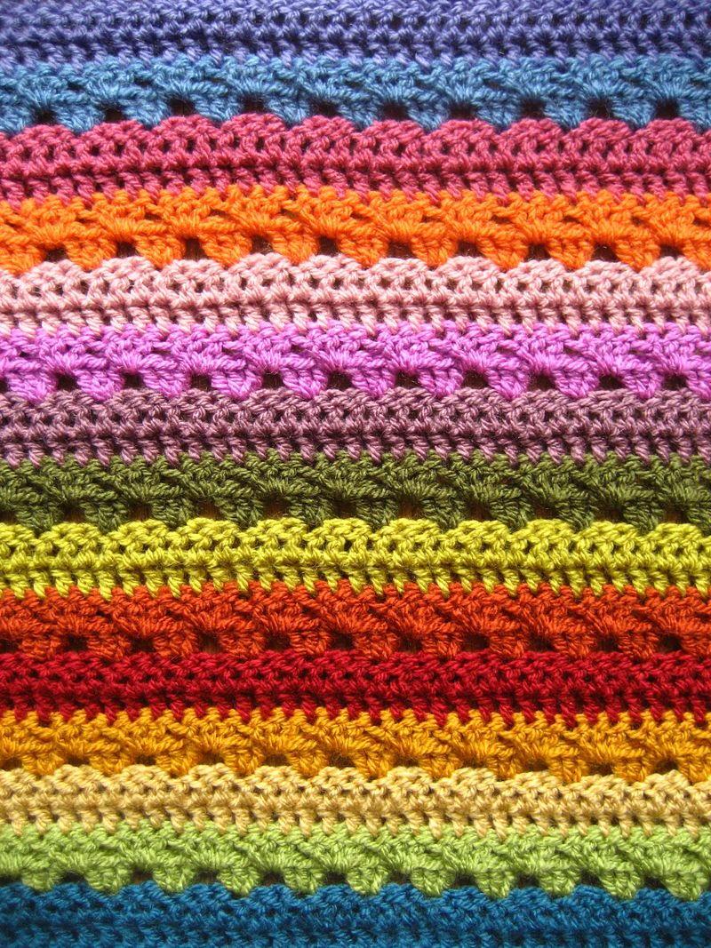 Relaxing Rainbow Crochet Blanket Allfreecrochet Com