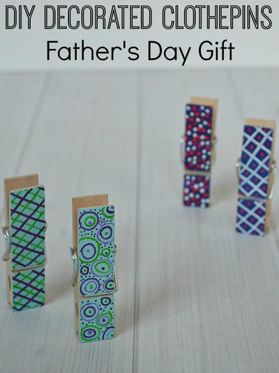 Wooden Clothespin Father's Day Gift