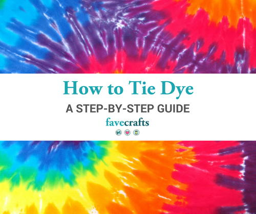 Tie Dye Instructions A Step By Step Guide Favecrafts
