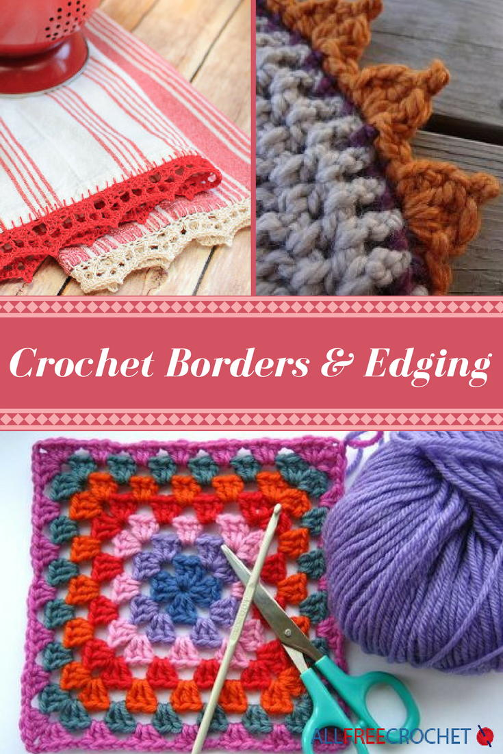 Crochet Borders and Edgings: 30 Crochet Tutorials | AllFreeCrochet.com