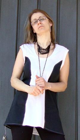 Cute Black and White Mini Dress