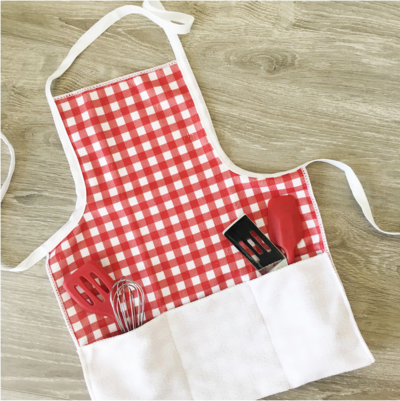 Kids Upcycled Dish Towel Apron