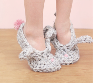 Crochet Bunny Slippers Pattern