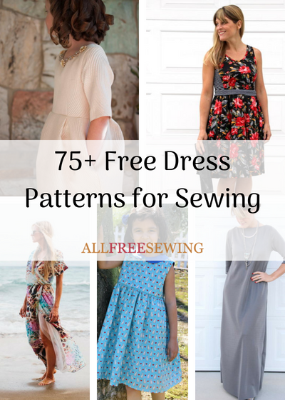40 Free Dress Patterns For Sewing AllFreeSewing Best Free Dress Patterns For Women