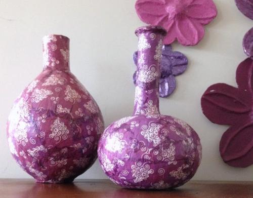 Decoupaged Paper Mache Vases Favecrafts