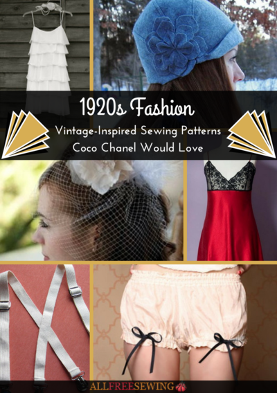 1920s Fashion 21 Vintage Inspired Sewing Patterns Coco Chanel