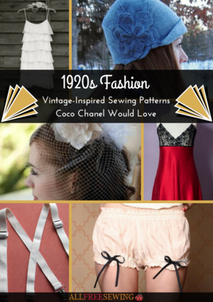 1920s Fashion: 21+ Vintage-Inspired Sewing Patterns Coco Chanel Would Love