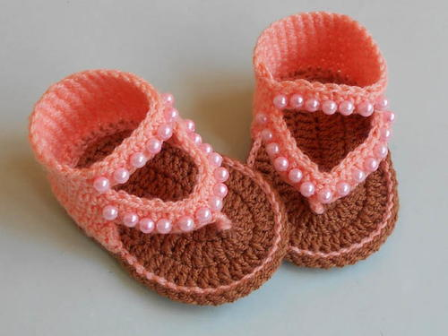 How To Crochet Baby Flip Flop Sandals Design Allfreecrochet