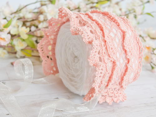 Victoria Rose Heirloom Lace Baby Bonnet