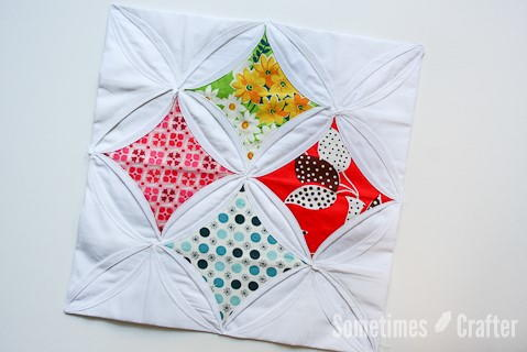 Cheerful Cathedral Window Quilt Block