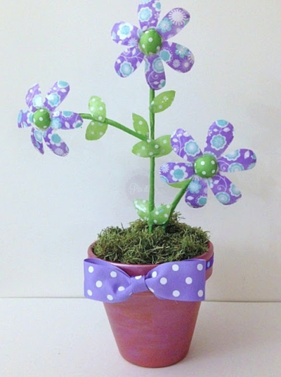 Recycled Water Bottle Flowers