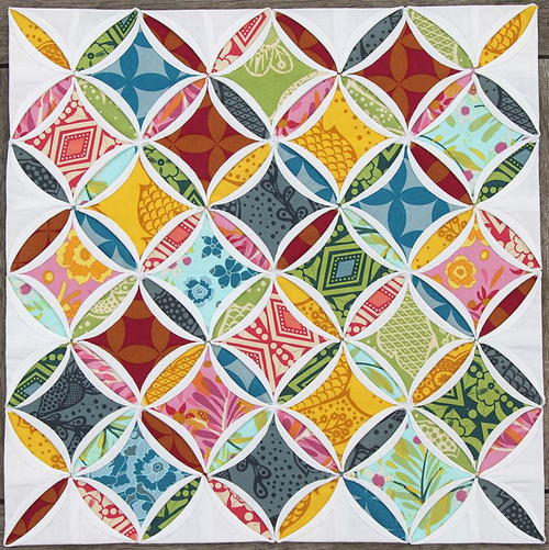 Mini Cathedral Windows Quilt Favequilts