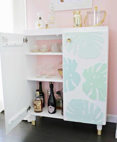 Ikea Hacks DIY Bar Cabinet