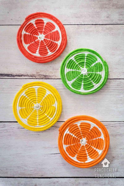 DIY Waterproof Rope Coasters