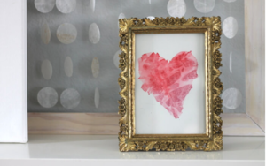 Simple Watercolor Hearts Painting Idea