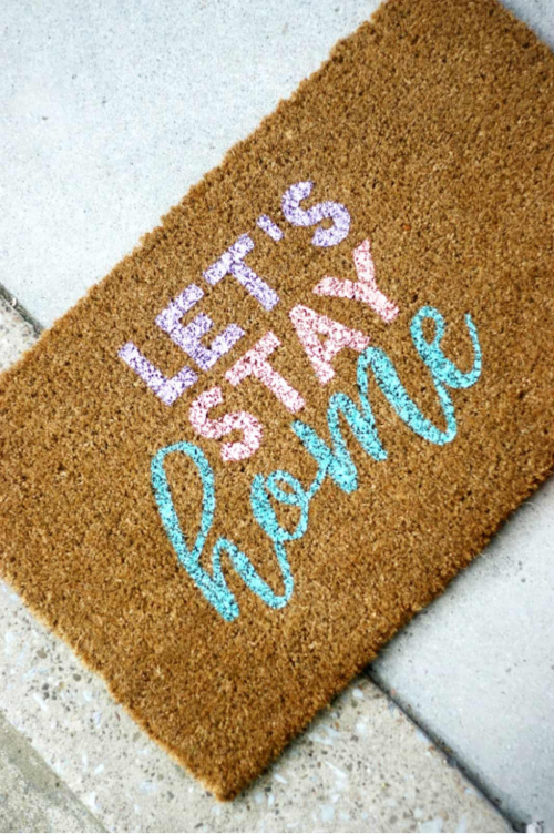Cute DIY Welcome Mat Idea