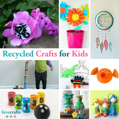 54 Recycled Crafts for Kids FaveCraftscom