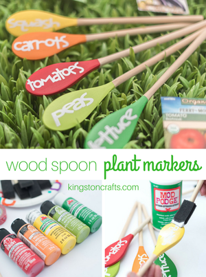 Wood Spoon Garden Markers