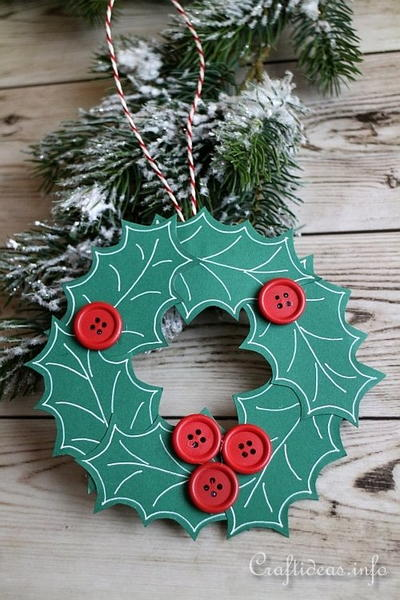 Paper Wreath Christmas Ornament