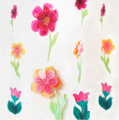 Repurposed Plastic Milk Jug Flower Garlands