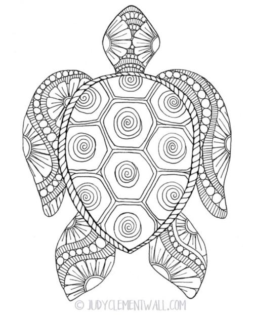 Gorgeous Sea Turtle Coloring Page | FaveCrafts.com